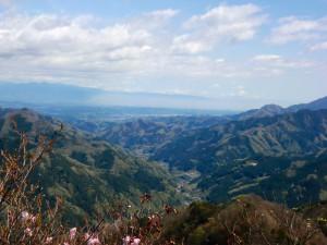 山頂からの南牧村