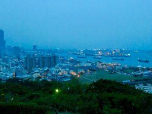 寿山公園からの高雄港